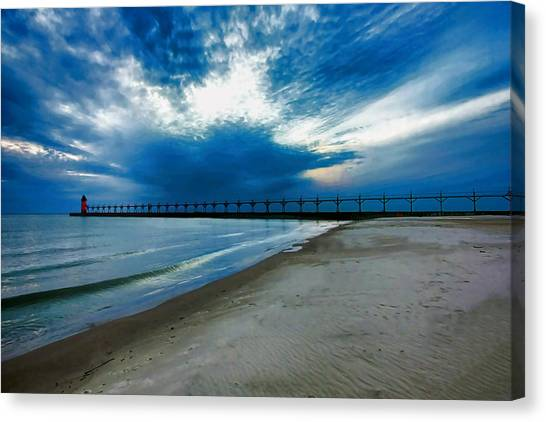 South Haven Pier Canvas Print