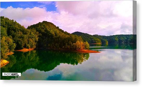North Holston Lake Mountains Canvas Print