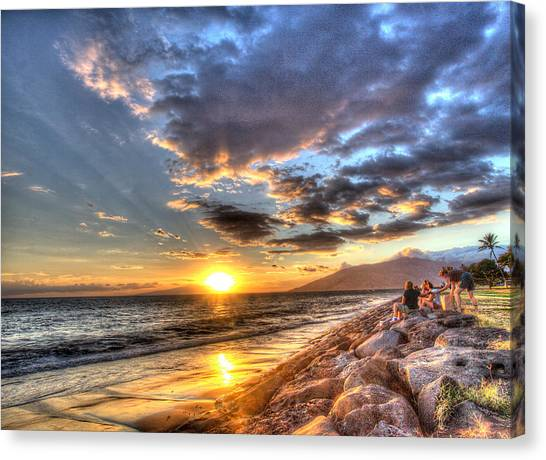 South Kihei Sunset Canvas Print