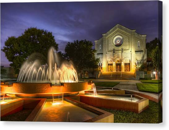 South Main Baptist Church Canvas Print