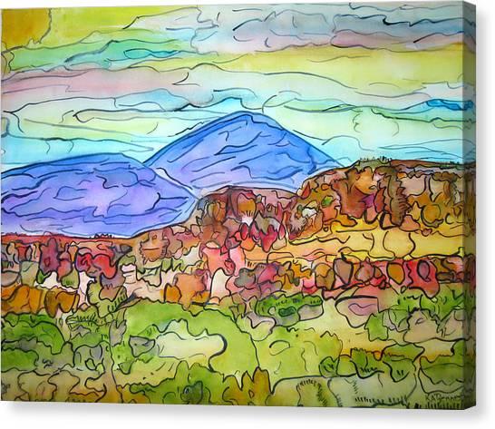 South Mesa Freestyle Canvas Print