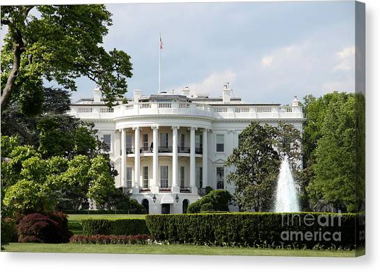 Canvas Print - South Portico Of The White House Washington Dc by Christiane Schulze Art And Photography