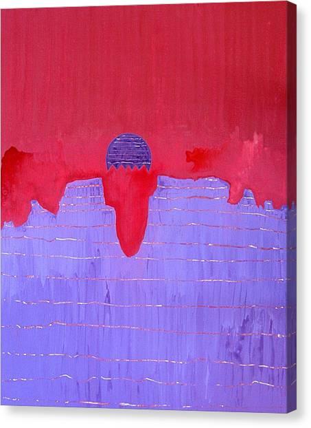South Rim Sun Original Painting Canvas Print