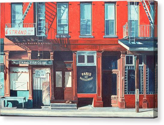 Shopfronts Canvas Print - South Street by Anthony Butera
