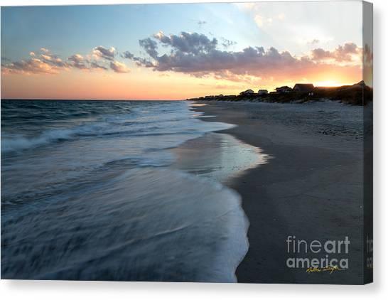 South Topsail Beach Sunset 2014 Canvas Print