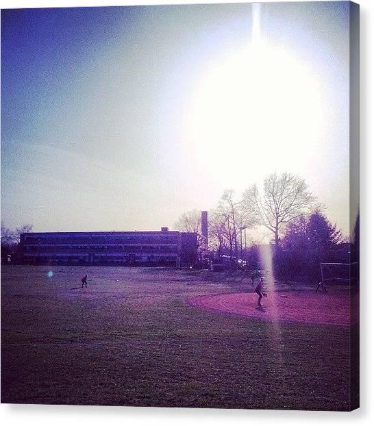 Softball Canvas Print - #south #vschsd #sky #sun #softball by Brandon Leite
