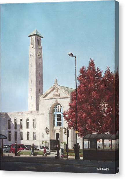 Southampton Civic Center Public Building Canvas Print