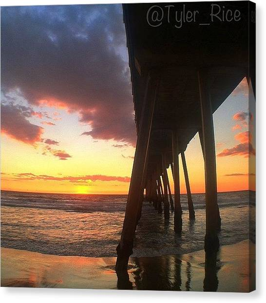 Seashells Canvas Print - Southbay Sunset by Tyler Rice