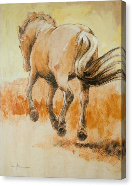 Draft Horses Canvas Print - Southbound by Tracie Thompson