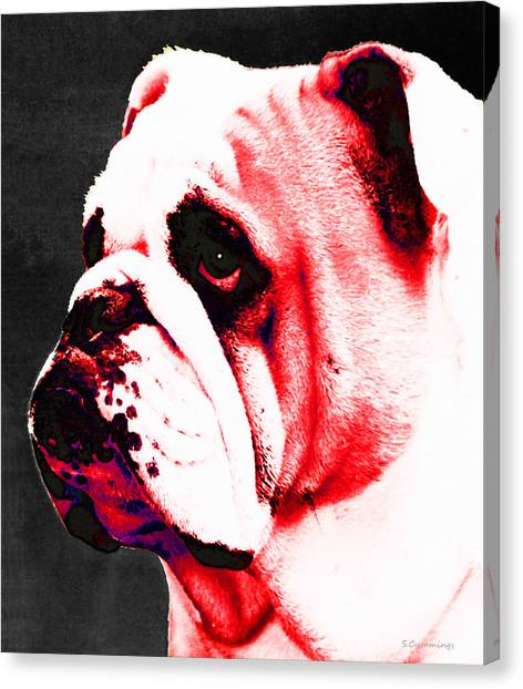 University Of Georgia Canvas Print - Southern Dawg By Sharon Cummings by Sharon Cummings
