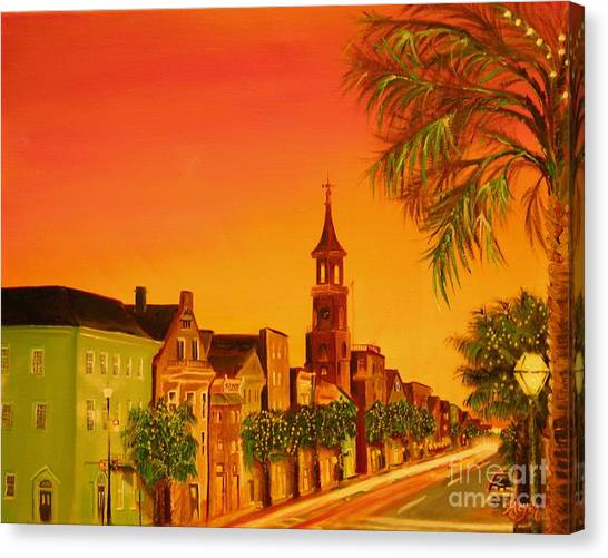 Southern Eve Canvas Print