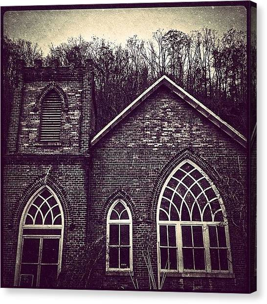 Medieval Art Canvas Print - Southern Gothic Church by Paul Cutright