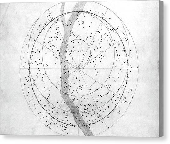 Celestial Sphere Canvas Print - Southern Hemisphere Sky Map by Royal Astronomical Society/science Photo Library