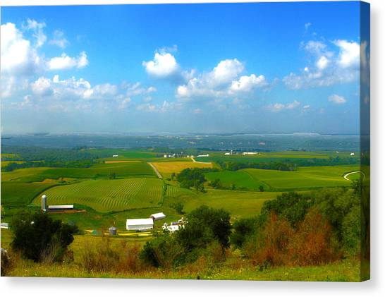 Southern Illinois River Basin Farmland Canvas Print