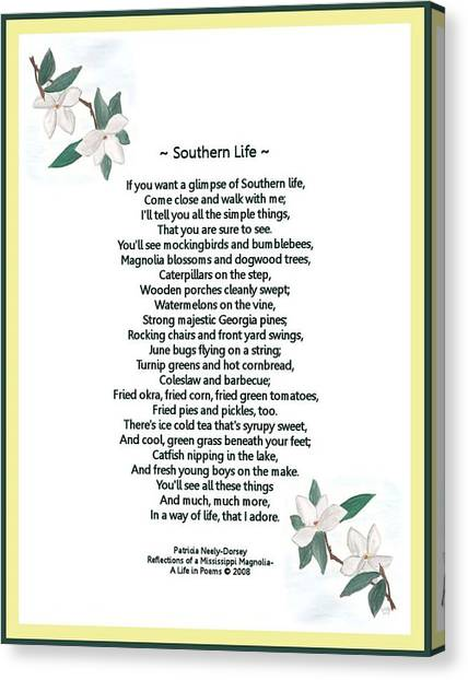 Southern Life Canvas Print by Patricia Neely-Dorsey