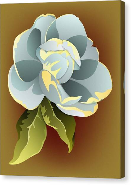 Southern Magnolia Blossom Canvas Print by MM Anderson