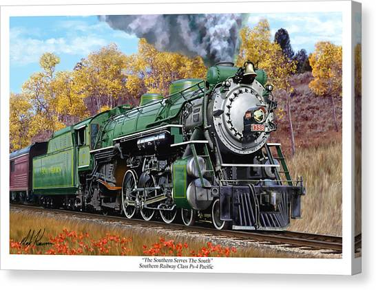 Southern Railway Class Ps-4 Pacific Canvas Print by Mark Karvon