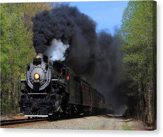Southern Railway Steam Engine #630 Canvas Print