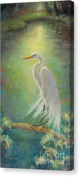 Egrets Canvas Print - Southern Serenity  by Lori  McNee