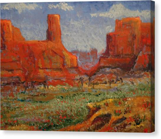 Southern Utah In The Spring Canvas Print by Paul Benson
