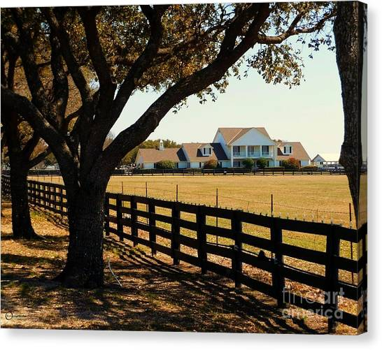 Southfork Ranch - Across The Pasture Canvas Print