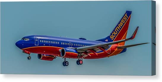 Southwest 737 Landing Canvas Print