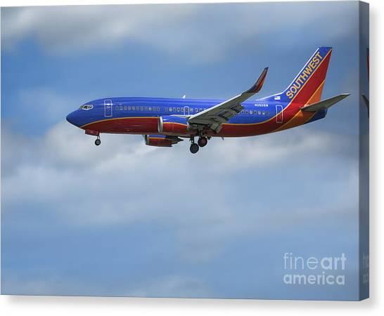 Southwest Airlines Jet Canvas Print