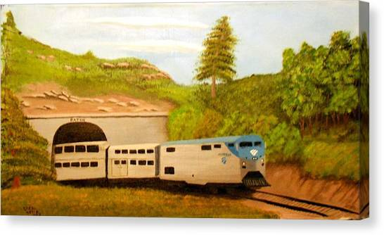 Southwest Chief At Raton Pass Canvas Print