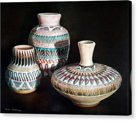 Southwest Pottery Canvas Print