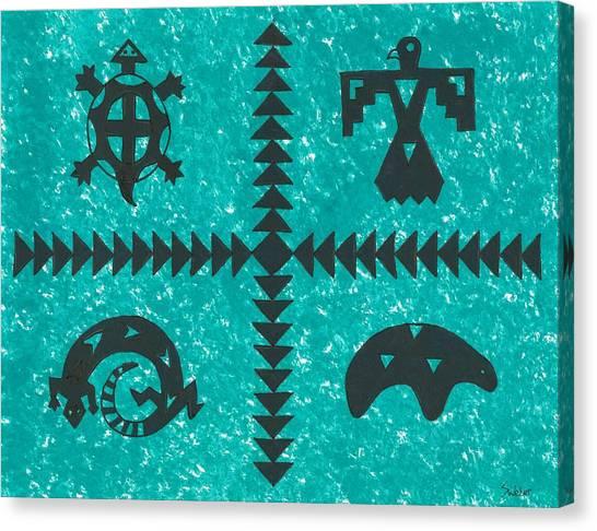 Southwest Symbols Canvas Print