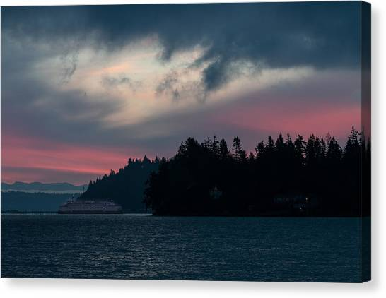Southworth Ferry Run At Dawn Canvas Print