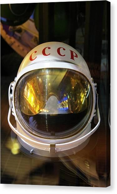 Cold War Canvas Print - Soviet Space Helmet. by Mark Williamson