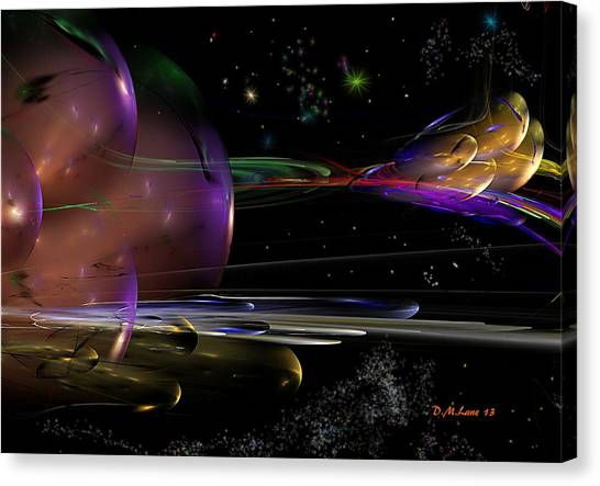 Si-fi Fractal Canvas Print - Space Abstraction by David Lane