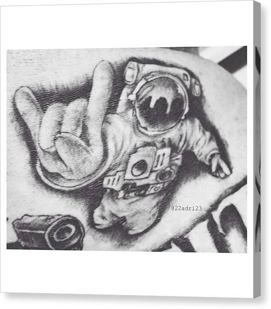 Astronauts Canvas Print - •space City•  #astronaut #spacecity by Adri Ramirez