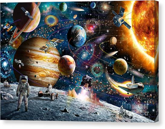 Satellite Canvas Print - Space Odyssey by Adrian Chesterman