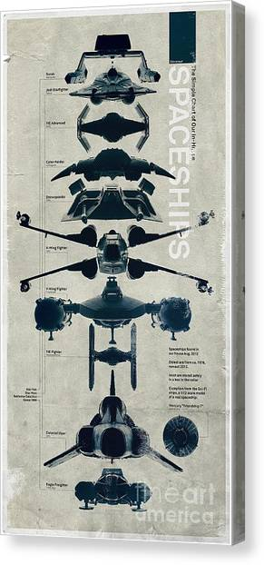 Vipers Canvas Print - Space Ships by Baltzgar