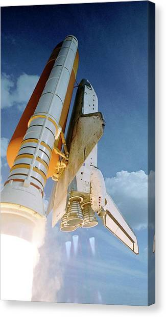Space Shuttle Canvas Print - Space Shuttle Atlantis Launching by Nasa/science Photo Library