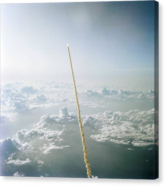 Space Shuttle Canvas Print - Space Shuttle Challenger Launch by Nasa/science Photo Library