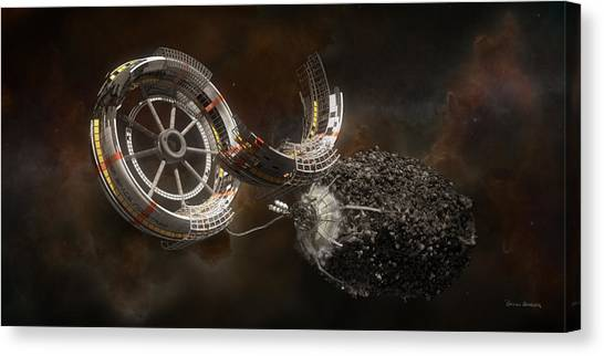 Stanford University Canvas Print - Space Station Construction by Bryan Versteeg