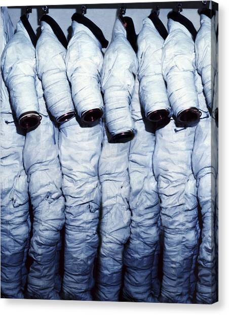 Emus Canvas Print - Space Suits by Science Photo Library
