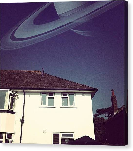 Saturn Canvas Print - #space #summer #saturn by Matt Gray