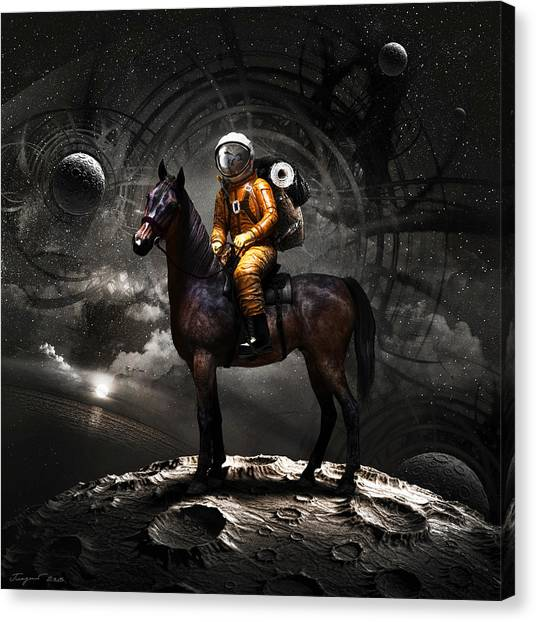 Space Suit Canvas Print - Space Tourist by Vitaliy Gladkiy