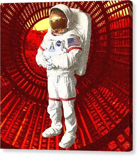 Astronauts Canvas Print - space Tunnel - Digital Artwork & by Budi Nusyirwan
