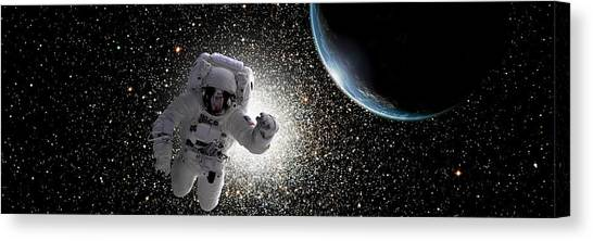 Space Walk No.7 Canvas Print