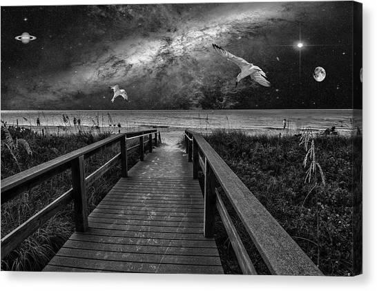 Space Walkway Canvas Print
