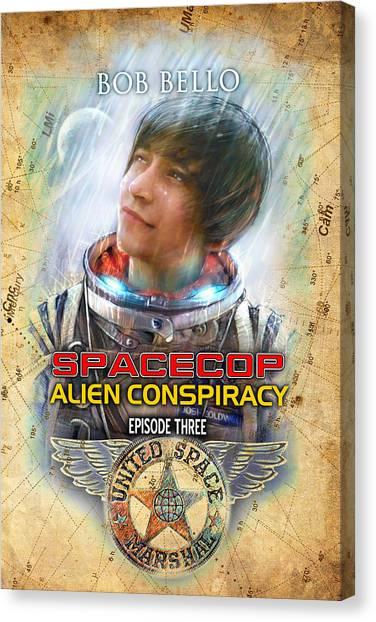 Spacecop 3 Canvas Print by Bob Bello