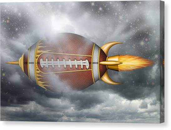 Spaceship Football Canvas Print