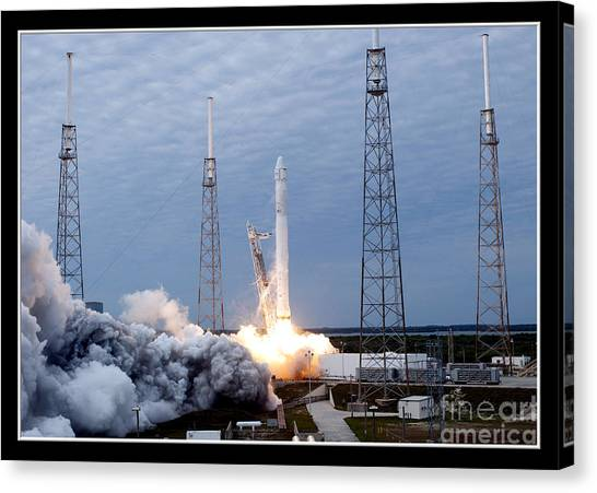 Canvas Print featuring the photograph Spacex-2 Mission Launch Nasa by Rose Santuci-Sofranko