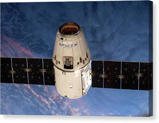 Independent Canvas Print - Spacex Dragon Capsule At The Iss by Nasa