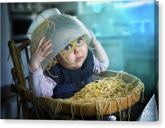Spaghetti Canvas Print - Spaghettitime by John Wilhelm